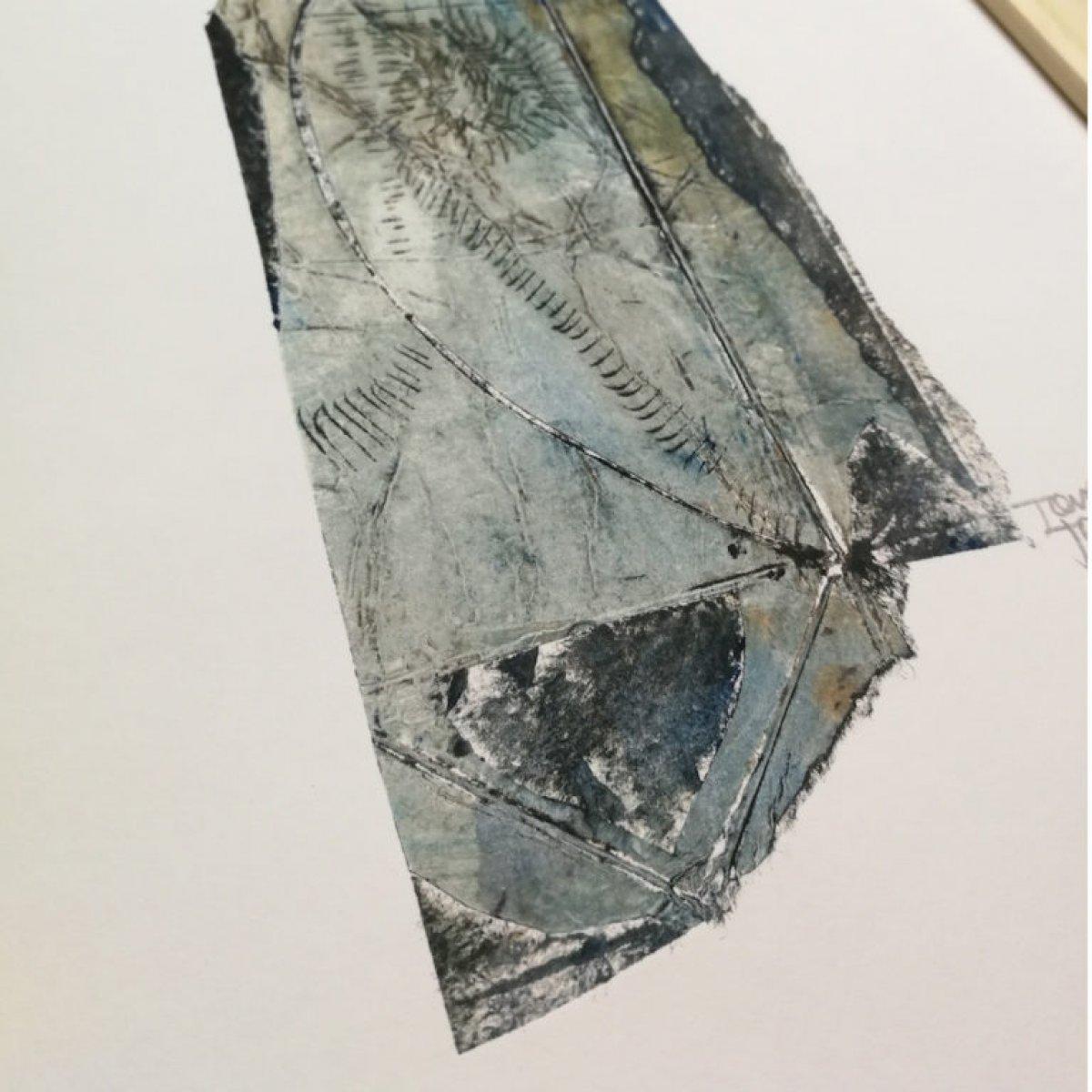 Oiseau – gravure en taille douce sur papier 260 grammes.
