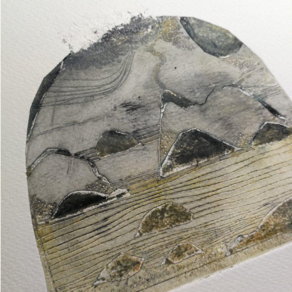Île d'or – gravure en taille douce sur papier 260 grammes.