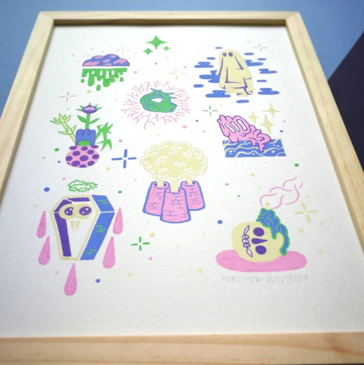 Mysticism, peinture originale – acrylique sur papier bouffant Clairefontaine 250 gr.