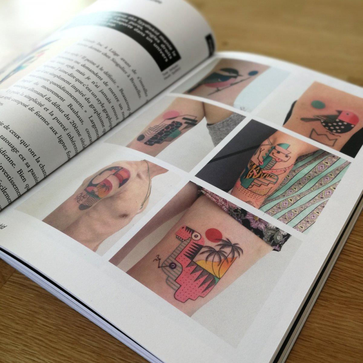 Extraits de Jeter l'Encre Issue ##2: dans l'ordre, Coeur par Nag et tatouages réalisés par Syydlekid.