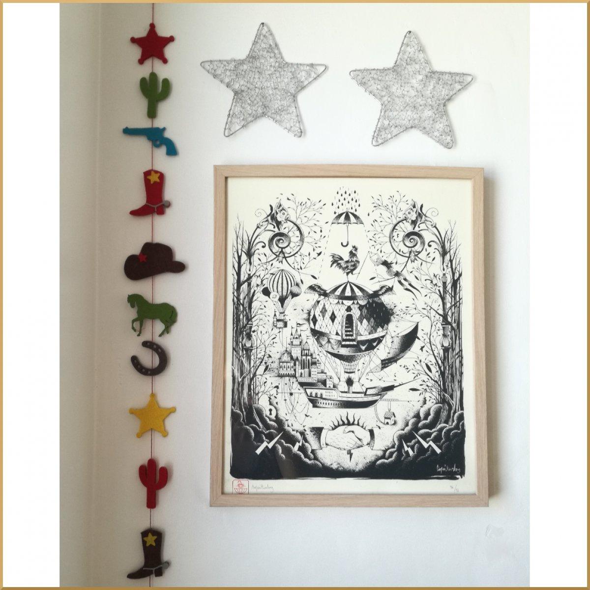 Sérigraphie de Topsiturby, illustrateur et tatoueur lyonnais dont Stefayako possède plusieurs tattoos.
