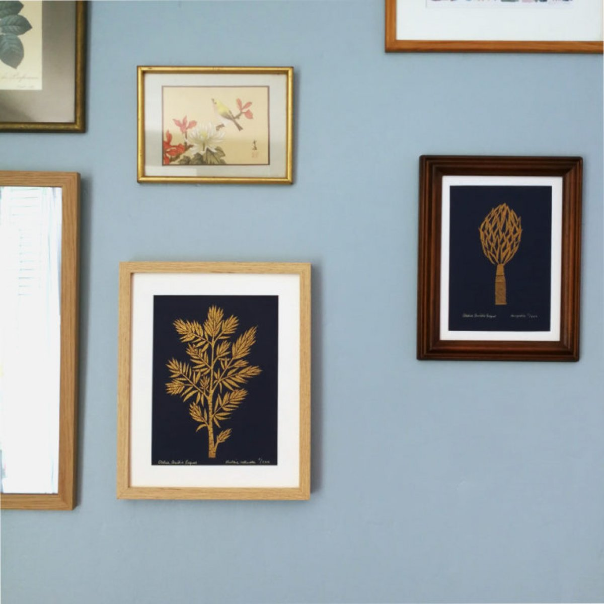Magnolia et Histoire naturelle, Linogravure originale sur papier 160 grammes.