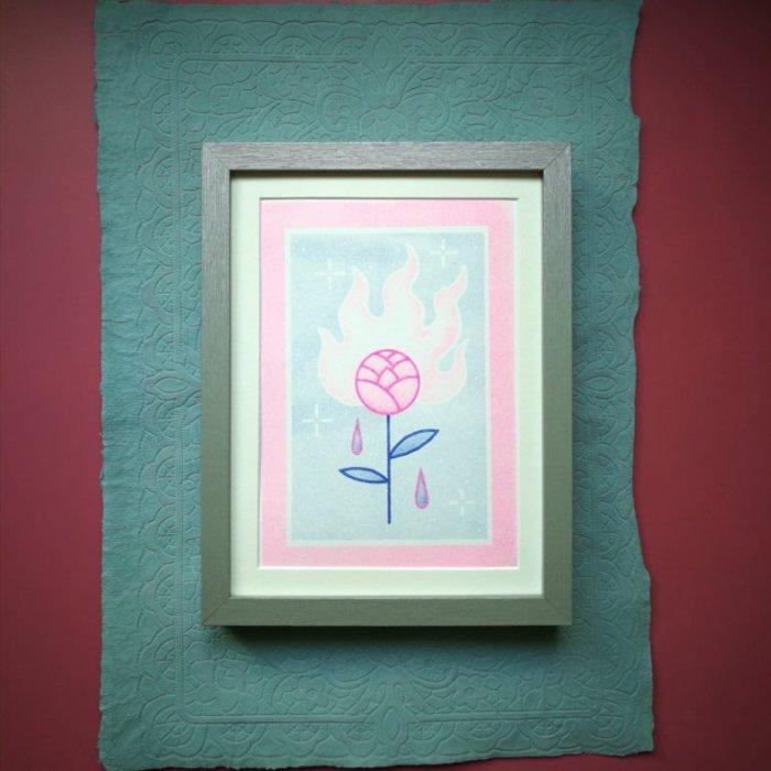 Rose incandescente