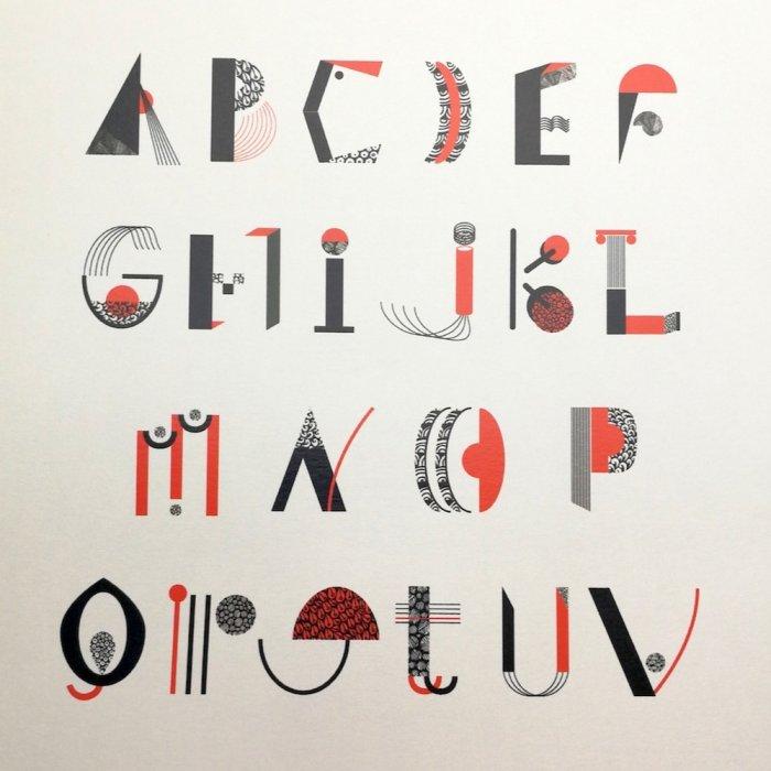 Lettres rouges - Lot de 5
